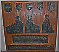 TQ9434 : Harlakenden Brasses, All Saints' church, Woodchurch by Julian P Guffogg