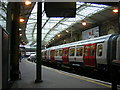 TQ3181 : New Metropolitan Line stock at Farringdon Station by Christopher Hilton