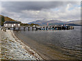 NS3693 : Luss Pier and Ben Lomond by David Dixon