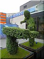 SK3587 : Snooker topiary outside Sheffield's Crucible theatre by Steve  Fareham