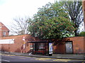TQ2777 : Request Bus Stop, Royal Hospital Road, London by PAUL FARMER