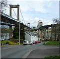 SX4358 : The Tamar Bridges, Saltash by Rob Farrow