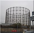 TQ3979 : Gas holder, Greenwich peninsula by Nigel Chadwick