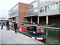 TQ2681 : Narrowboat Lady Claire at Paddington Basin by PAUL FARMER