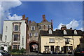SO5174 : The Wheatsheaf Inn and medieval Broad Gate in Ludlow by Roger Davies