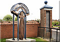 J3374 : &quot;Welcome to the Shankill&quot; sculpture, Belfast by Albert Bridge