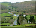 SN9453 : The B4358 in the valley at Glandulas, Powys : Week 18