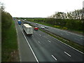 SJ6081 : M56 from Pillmoss Lane Bridge by Alexander P Kapp