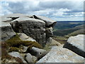 SK1188 : Rock formations by Blackden Moor by Andrew Hill