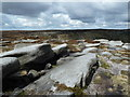 SK0989 : Rocky plateau above Fair Brook by Andrew Hill