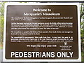 NM5440 : Sign to Macquarie's Mausoleum by M J Richardson
