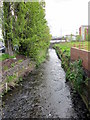 SP0483 : Grange Road Bridge to University Over The Bourn Brook, Selly Oak by Roy Hughes