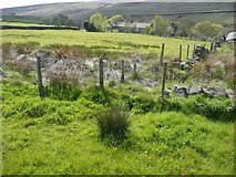 SE0021 : Blocked footpath near Moorside Cottages by Humphrey Bolton