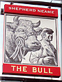 TQ5837 : The Bull sign by Oast House Archive