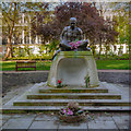 TQ2982 : Statue of Mahatma Gandi in Tavistock Square Gardens by David Dixon
