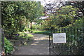 SJ8490 : Old Parsonage Gardens entrance Stenner Lane by Peter Turner