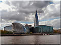TQ3380 : River Thames, City Hall and The Shard by David Dixon
