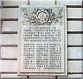 TQ2980 : War Memorial, Royal Academy, Burlington House, Piccadilly, London by PAUL FARMER