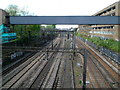 TQ2583 : A view west from Abbey Road railway bridge, London NW8 by John Grayson
