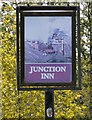 SJ9297 : Sign for the Junction Inn by Gerald England