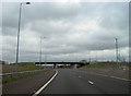 NS7171 : M73 overbridge at M80 junction 4 by John Firth