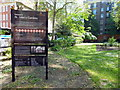 TQ3078 : Sign at Horseferry Road entrance to St John's Gardens Westminster by PAUL FARMER