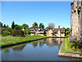 TQ4745 : Hever Castle:  Moat and side buildings by Dr Neil Clifton