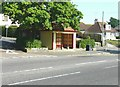 TR2237 : Wood Avenue bus shelter, Folkestone by John Baker