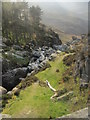 SH6460 : Rhaeadr Ogwen from above by Nigel Chadwick
