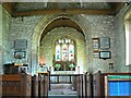 SU0268 : View east inside the Church of St Mary, Calstone Wellington by Brian Robert Marshall