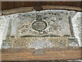 SU0268 : Coat of Arms, Church of St Mary, Calstone Wellington by Brian Robert Marshall