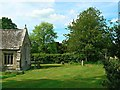 SU0268 : East churchyard, Church of St Mary, Calstone Wellington by Brian Robert Marshall