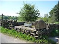 SK0349 : Redundant street furniture, Park Lane, Ipstones Park by Christine Johnstone