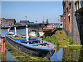SJ4077 : Barge at the National Waterways Museum by David Dixon