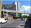 TQ2583 : Footbridge over Belsize Road, London NW6 by John Grayson