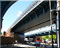 TQ2484 : Middle railway bridge adjacent to Kilburn tube station, London by John Grayson