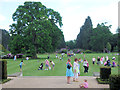 SP9912 : The South Lawn at Ashridge House on Fete Day by Chris Reynolds