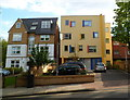 TQ2484 : Colourful rebuilt 191 Willesden Lane, London NW6 by John Grayson