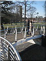 SP2054 : Footbridge by the lock by Robin Stott