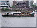 TQ2777 : Diamond Jubilee Pageant - Thames steamboat &quot;Streatley&quot; by David Hawgood