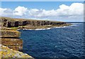 HY3934 : Coastline below Skatequoy, Rousay, Orkney by Claire Pegrum