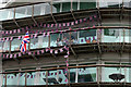 TQ3480 : London - Hanging Out The Bunting by Chris Talbot