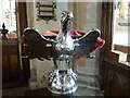 TF6528 : Silver lectern in St. Peter's church, Wolferton by pam fray