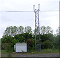 NZ2766 : Trackside communications mast by JThomas