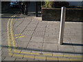 SP2054 : Tactile paving, Chapel Lane/Waterside by Robin Stott