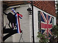 TQ0747 : Diamond Jubilee Bunting at Shere by Colin Smith