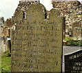 J4493 : Headstone, Templecorran old church, Ballycarry (2) by Albert Bridge