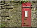 SK1874 : VR Postbox, Wardlow by Peter Barr