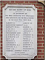 TQ0074 : A War Memorial Plaque at Wraysbury by Ian S