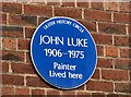 Photo of John Luke blue plaque